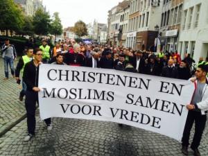 moslims en christenen samen voor vrede