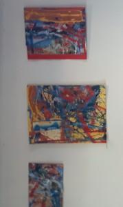 Foto van 3 schilderijen van Dolf ven Beest